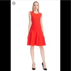 ISSA LONDON Crimson Rayon Rib Dress S